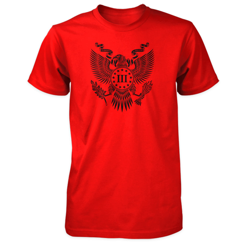 The Great Seal of the Three Percent Shirt - Red with Black