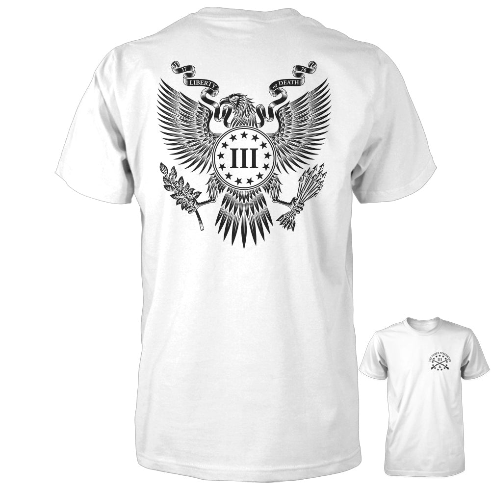 Great Seal of the Three Percent Shirt - White with Black