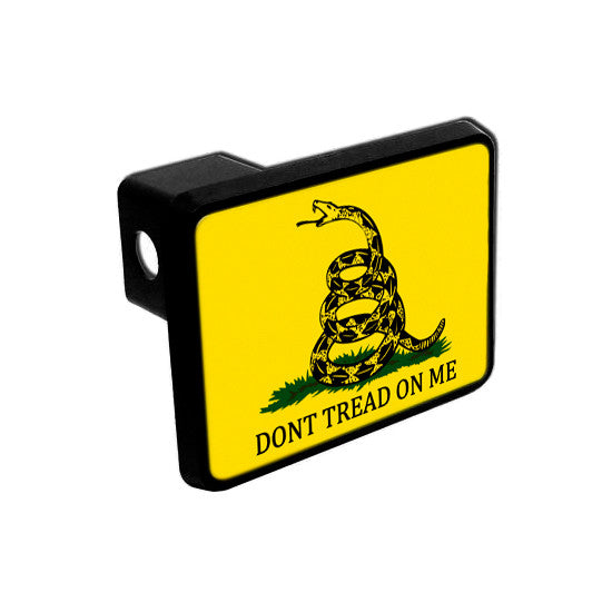 Trailer Hitch Cover - Gadsden Don't Tread On Me Flag - Original Colorway