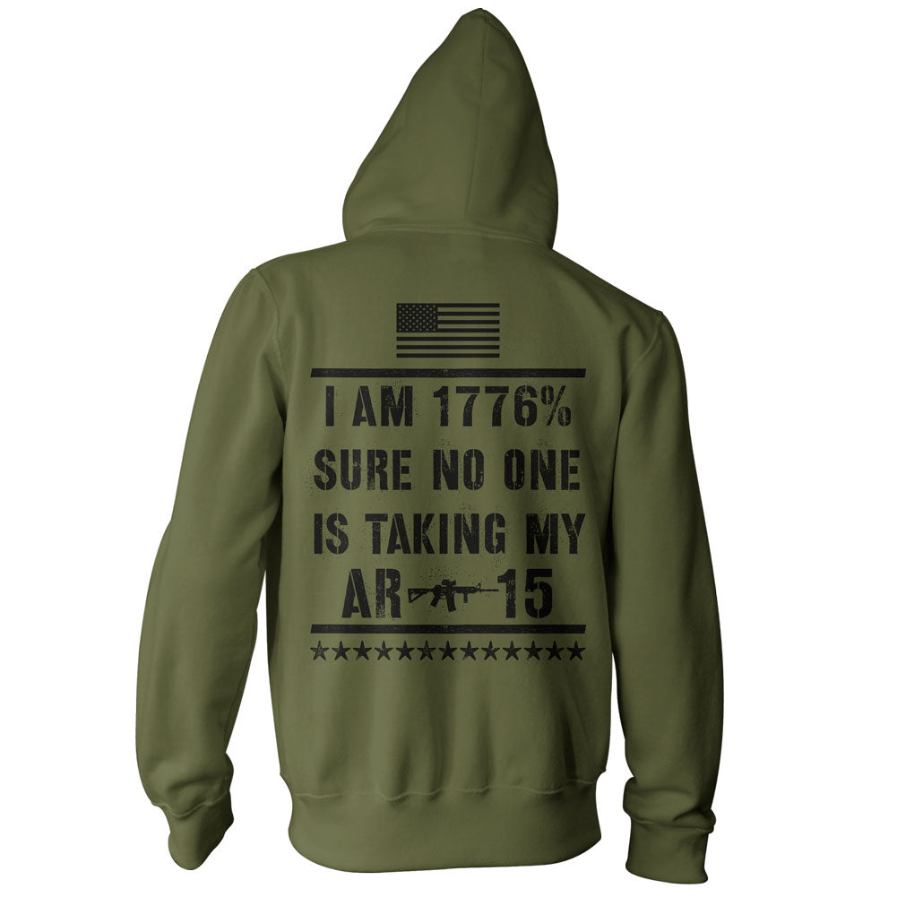 I Am 1776% Sure No One Is Taking My AR-15 Hoodie - Military