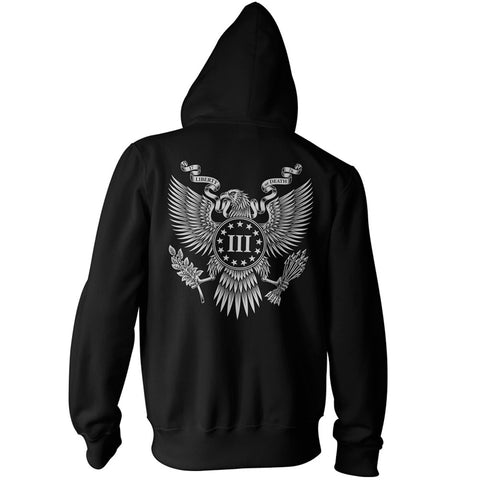 Three Percenter Zip Up Hoodie - Great Seal of the III Percent