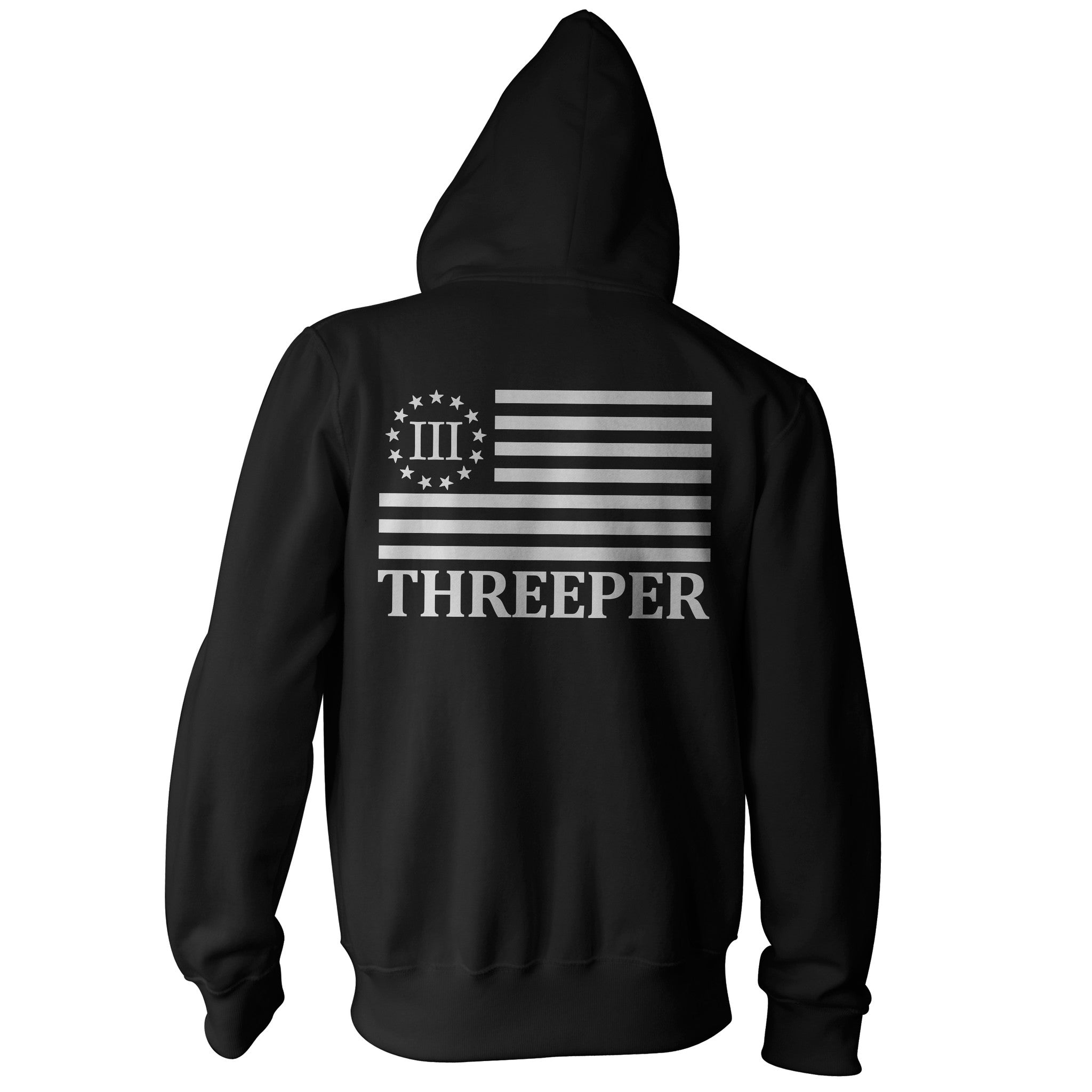 Zip Up Hooded Sweatshirt - The Threeper