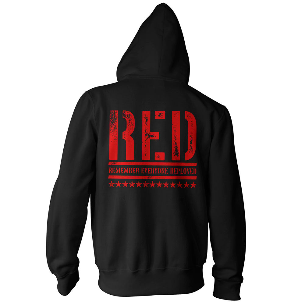 RED Zip Up Hoodie - Back