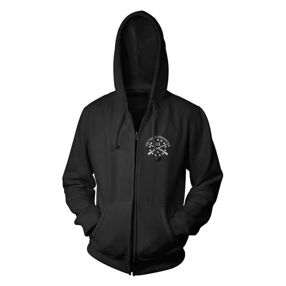 Zip Up Hooded Sweatshirt - Crusader Shield - front