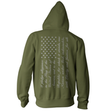 Pledge of Allegiance American Flag Pullover Hoodie - Military