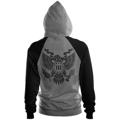 Three Percenter Pullover Raglan Hoodie - Great Seal | Back Print