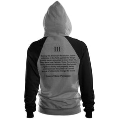 I am a Three Percenter raglan hoodie