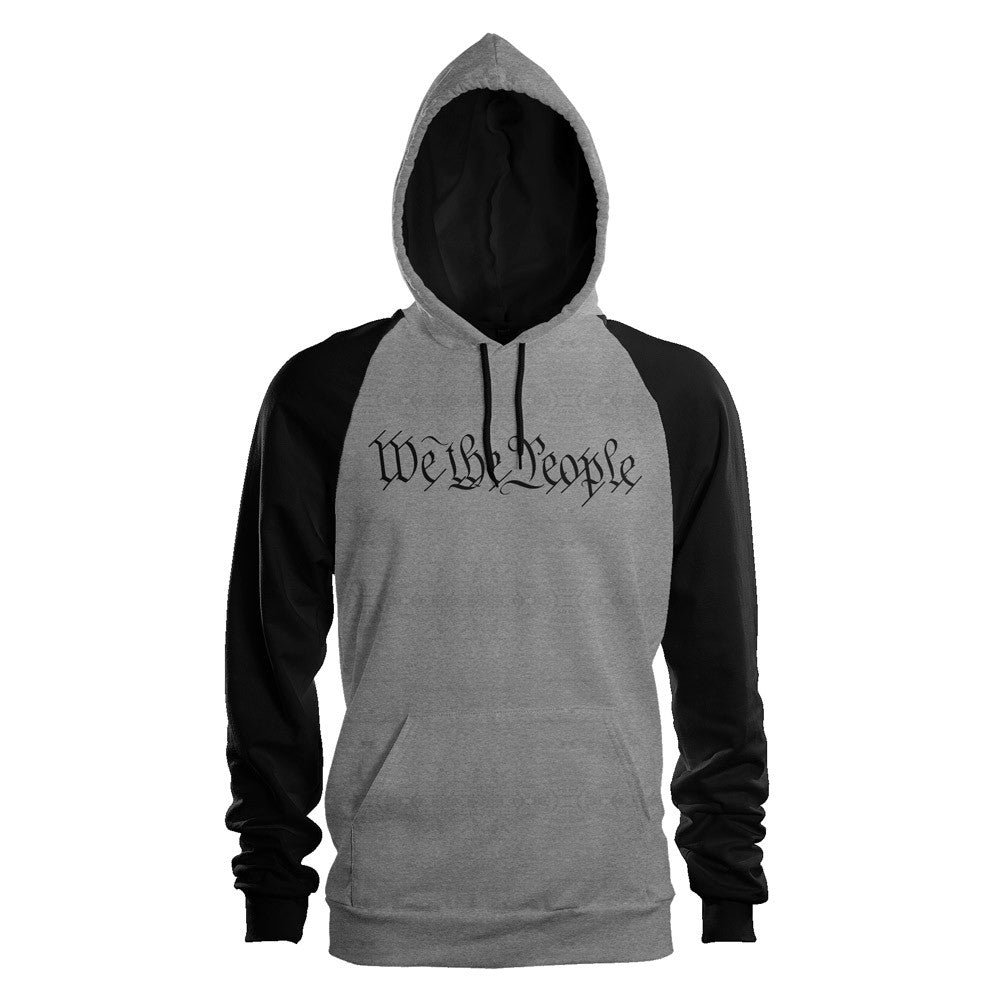 We The People Pullover Raglan Hooded Sweatshirt