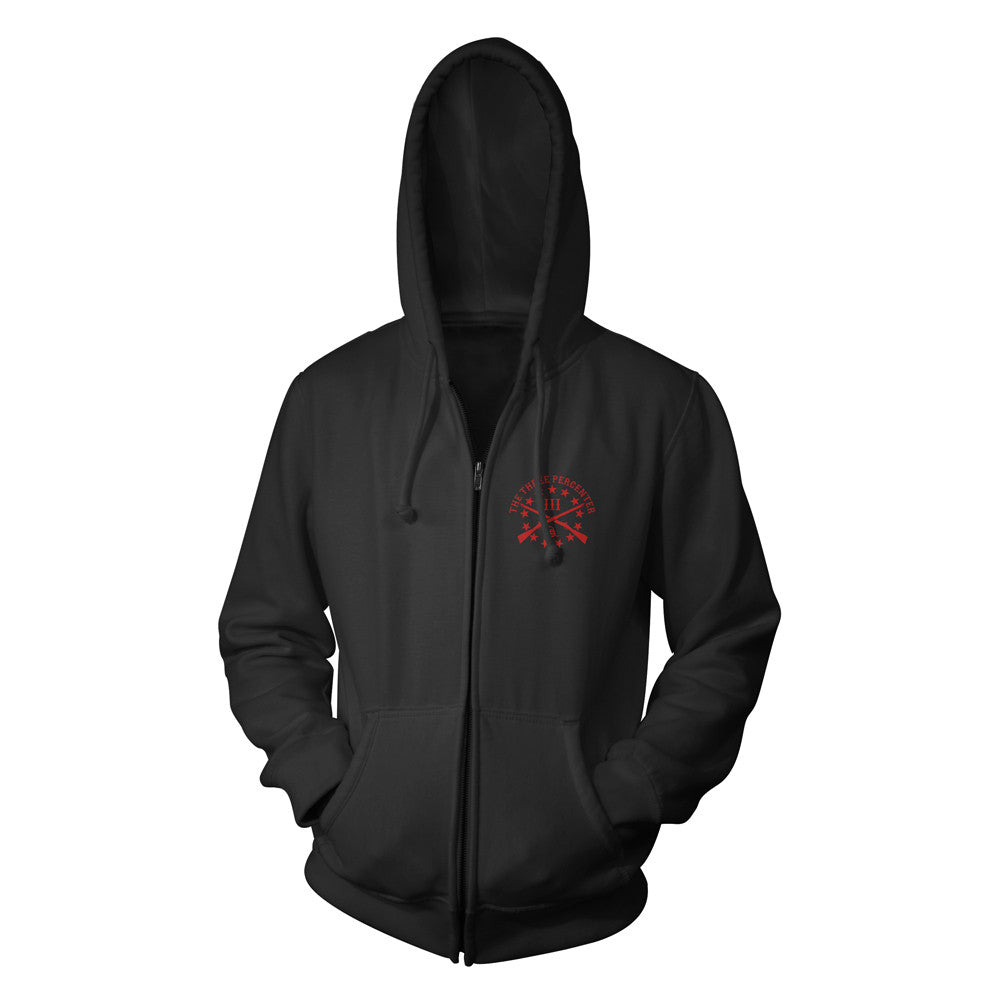 RED Zip Up Hoodie - Front