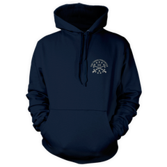 Dont Tread On Me Pullover Hoodie - American Flag & Rattlesnake - Front