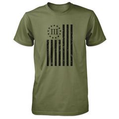 Distressed Vertical III Percenter Flag -Military