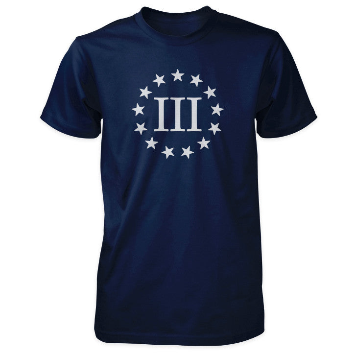 III percenter III and 13 Stars Shirt in Navy