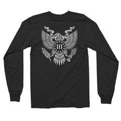 Three Percenter Long Sleeve Shirt - Great Seal of the III Percent | Back Print