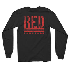RED Long Sleeve Shirt - Remember Everyone Deployed