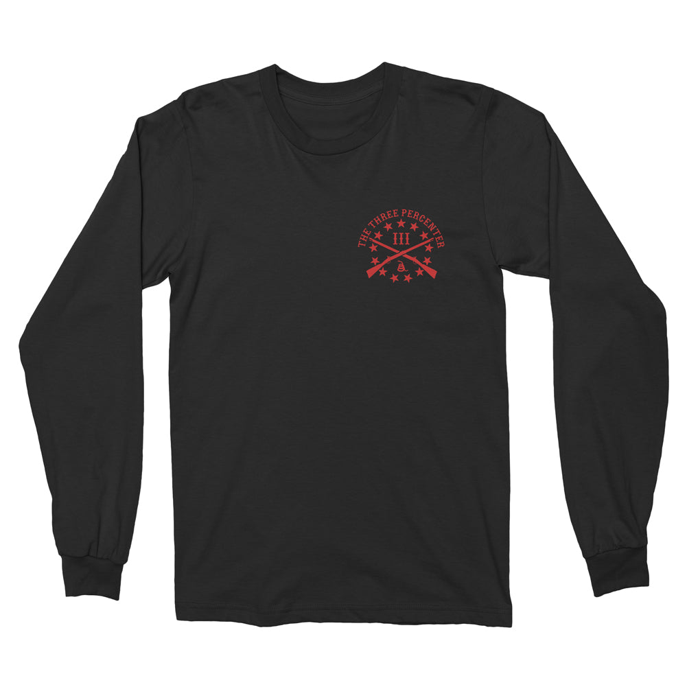 RED Long Sleeve Shirt - Remember Everyone Deployed back print