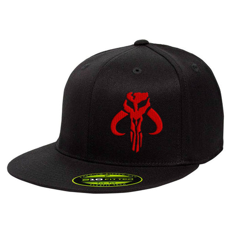 Mandalorian Mythosaur 210 Premium FlexFit Cap - Black & Red