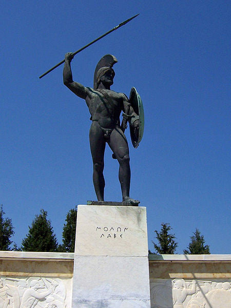 Leonidas monument at Thermopylae.