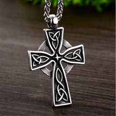 Celtic Cross Stainless Steel Pendant & Necklace