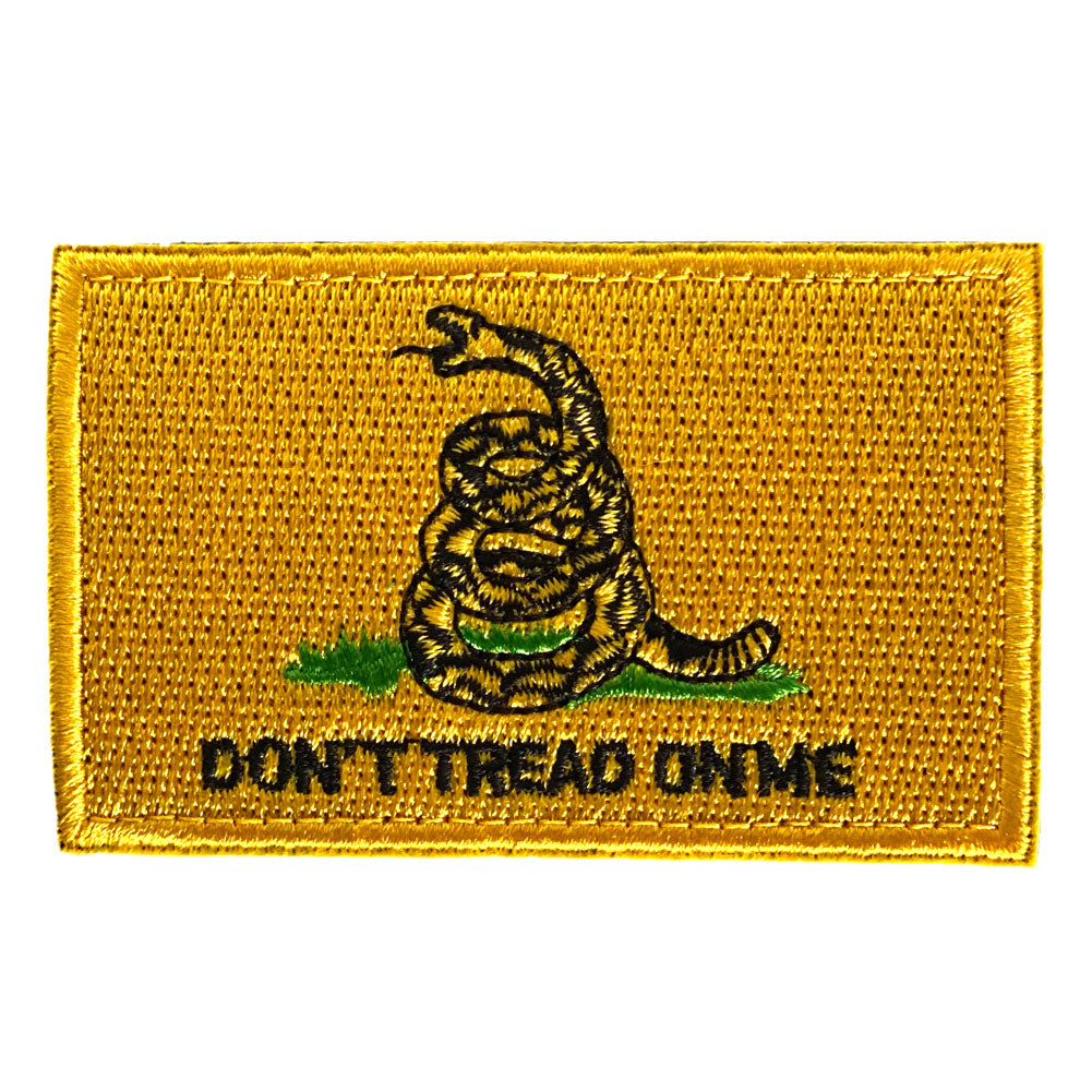 Gadsden Don't Tread On Me Flag Embroidered Velcro Patch - Yellow