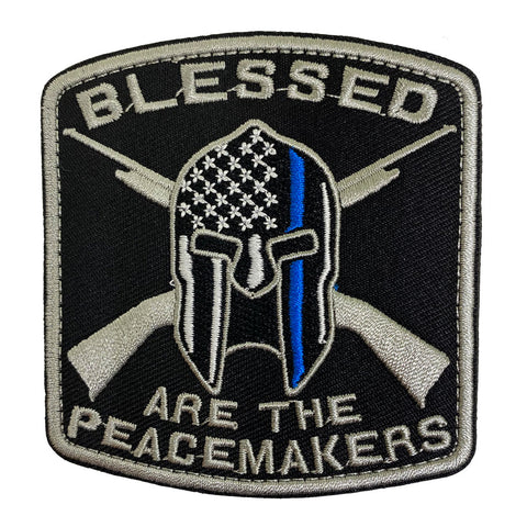 Blessed Are The Peacemakers Embroidered Velcro Patch