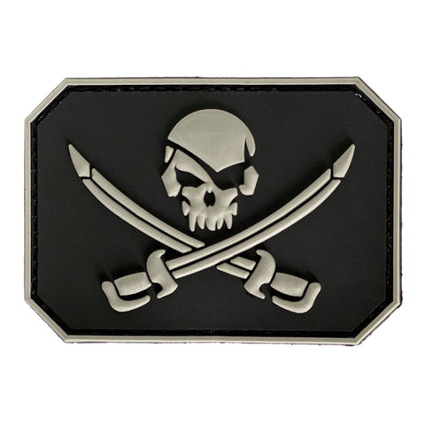 Pirate Skull and Swords 3D PVC Velcro Patch