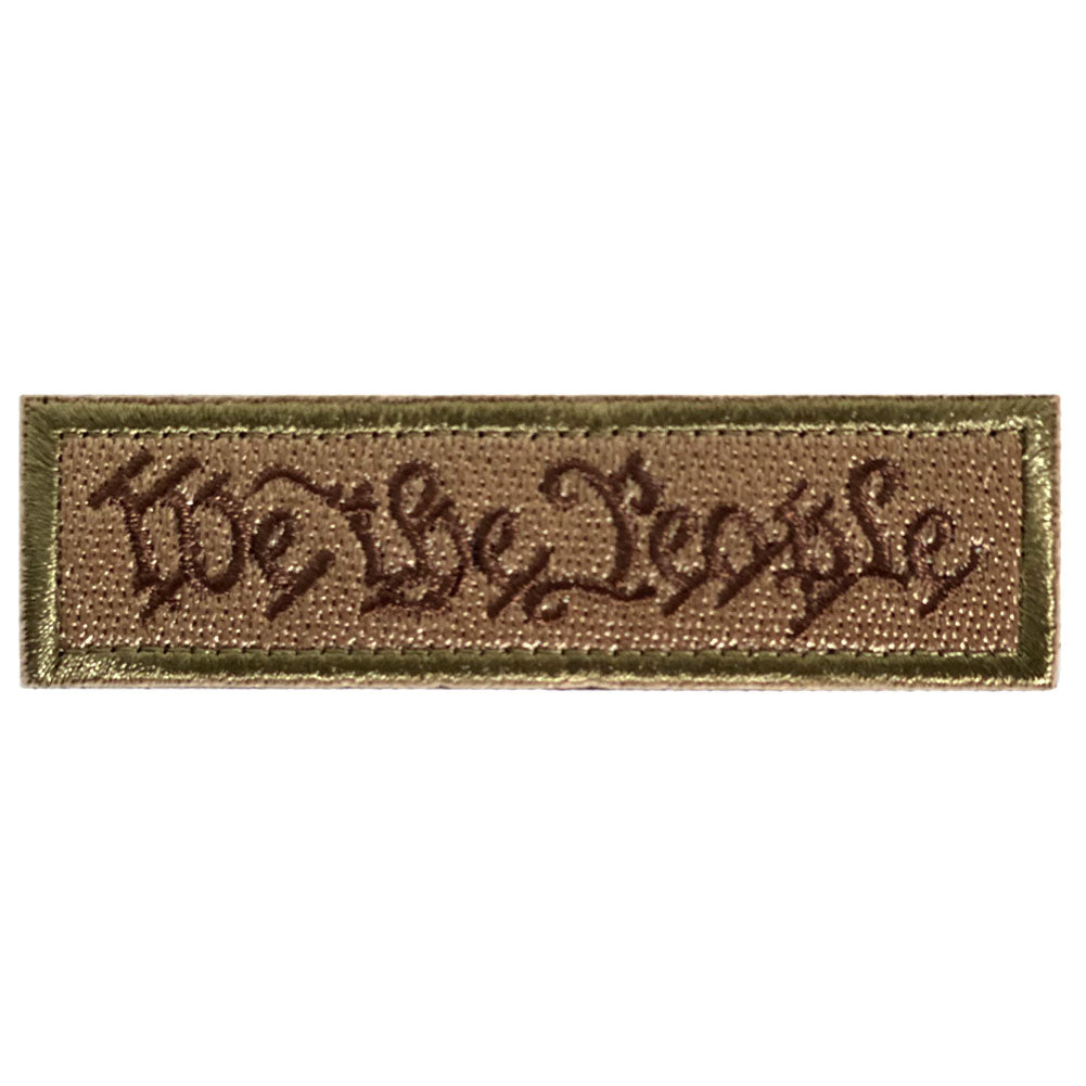 We The People Embroidered Velcro Patch - Coyote Brown