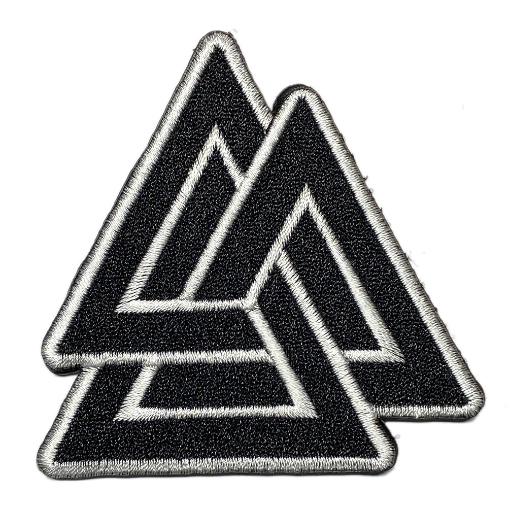 Viking Embroidered Velcro Patch - Valknut - Three Triangles
