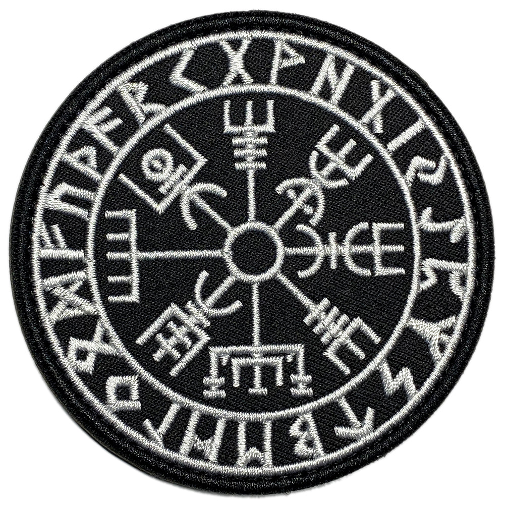 Viking Embroidered Velcro Patch - The Vegvisir / Viking Compass