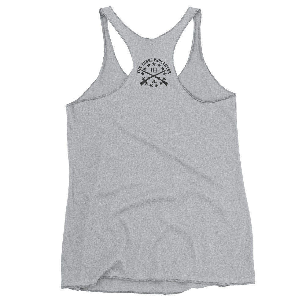 Three Percenter Womens Racerback Tank - Back
