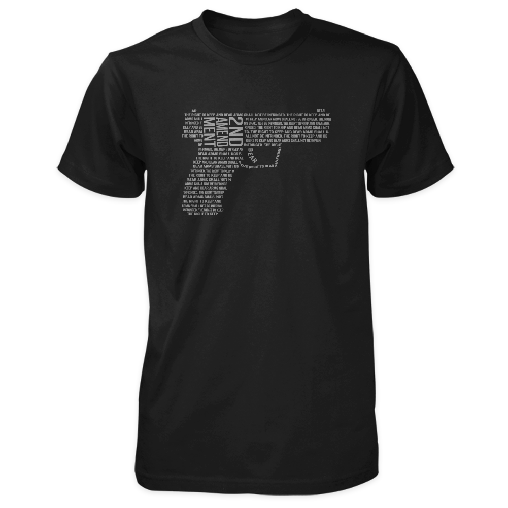 2nd Amendment Shirt - Shall Not Be Infringed Pistol - Black