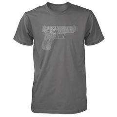 2nd Amendment Shirt - Shall Not Be Infringed Pistol - Charcoal