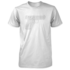 2nd Amendment Shirt - Shall Not Be Infringed Pistol - White