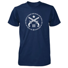 2nd Amendment Quote Shirt - Navy