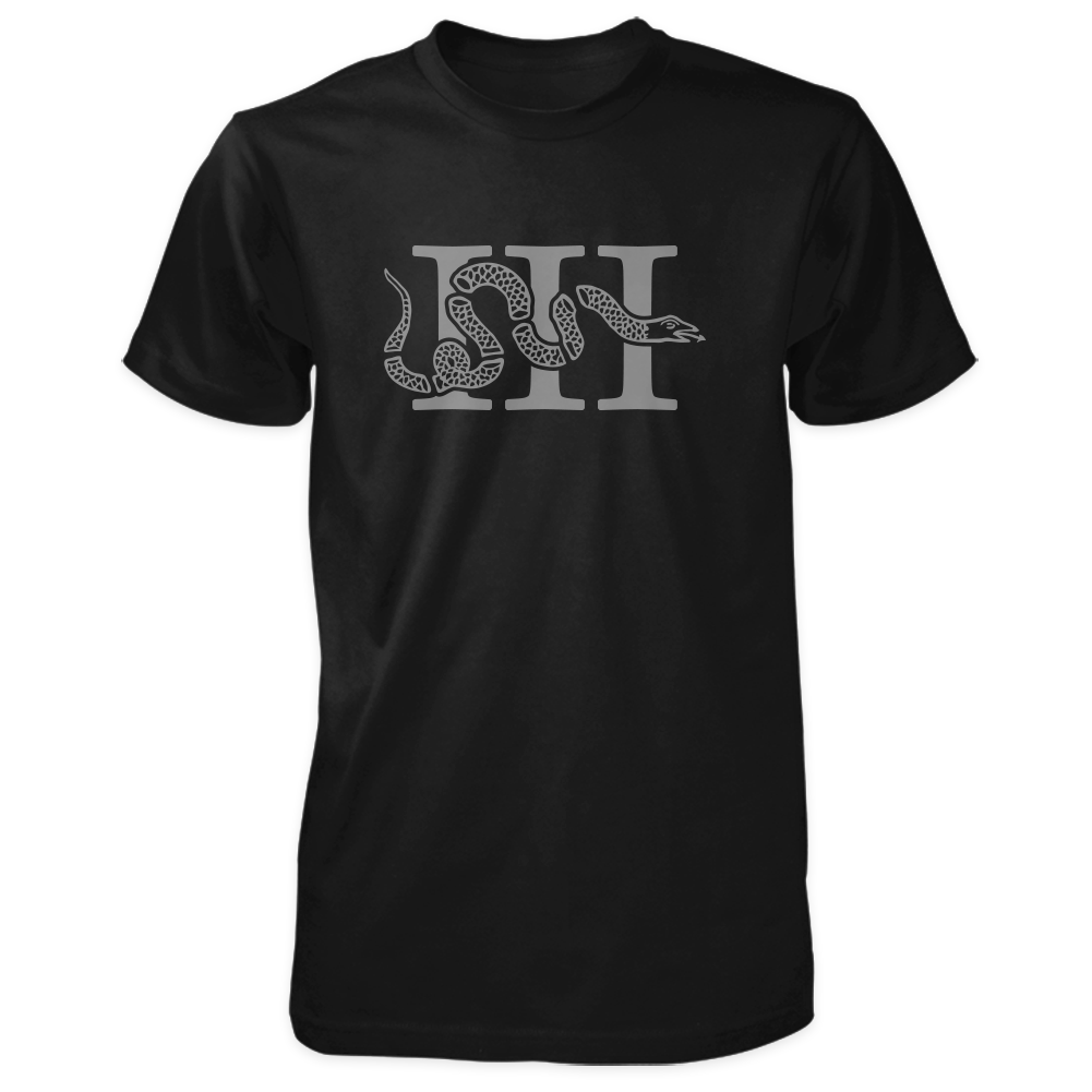Three Percenter Shirt - III & Join or Die Snake - Black