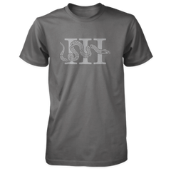 Three Percenter Shirt - III & Join or Die Snake - Charcoal
