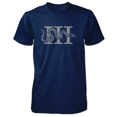 Three Percenter Shirt - III & Join or Die Snake - Navy