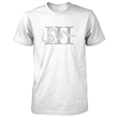 Three Percenter Shirt - III & Join or Die Snake - White