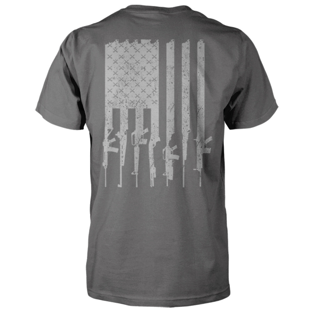 American Gun Flag Shirt - Charcoal & Grey