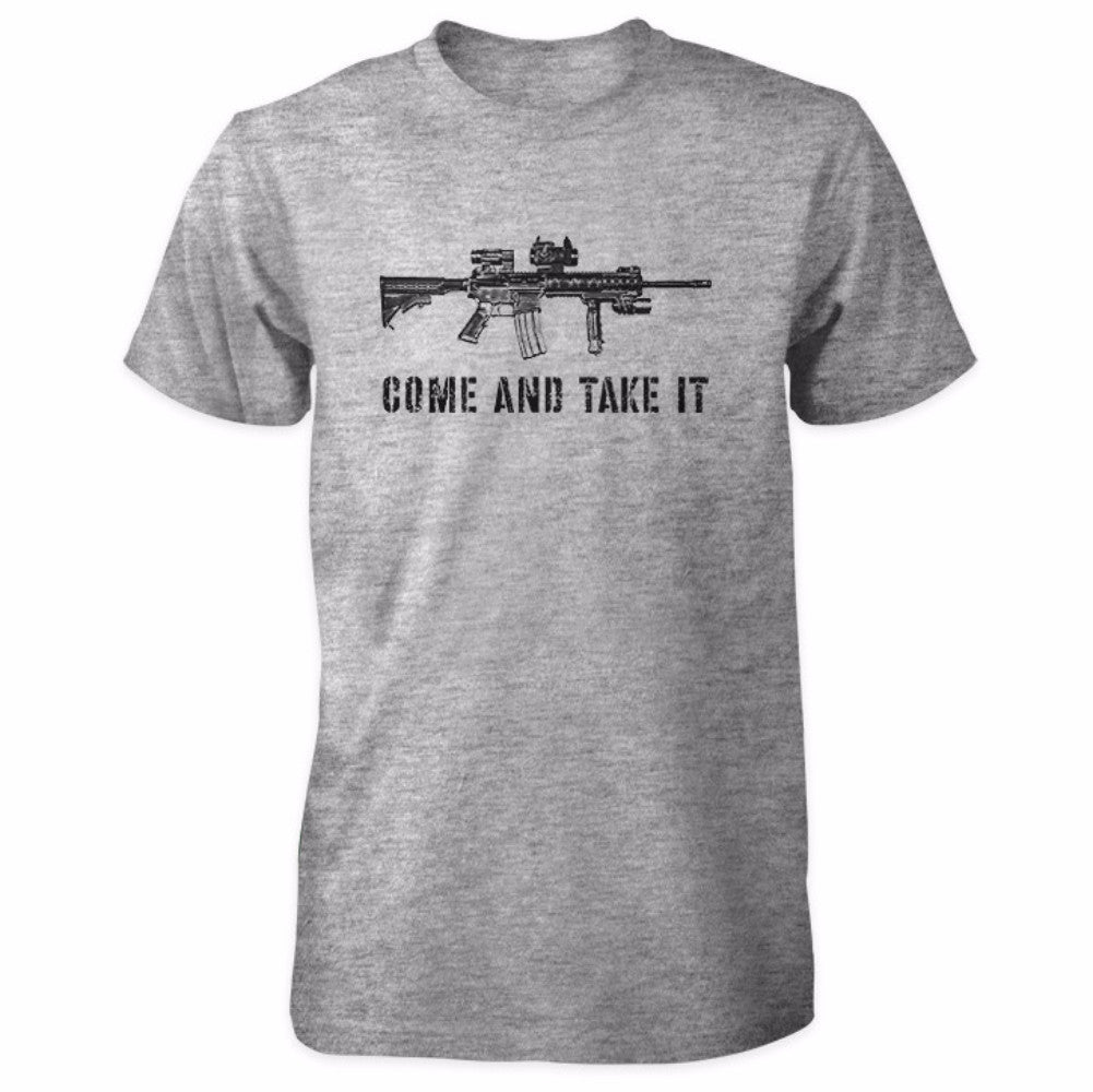 Come and Take It Tactical AR-15 Shirt - Sports Grey
