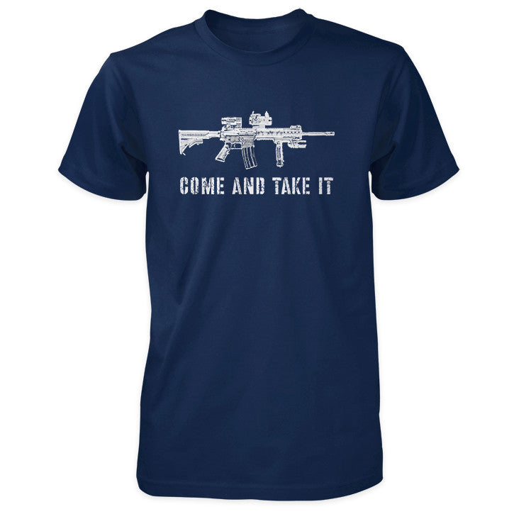 Come and Take It Tactical AR-15 Shirt - Navy