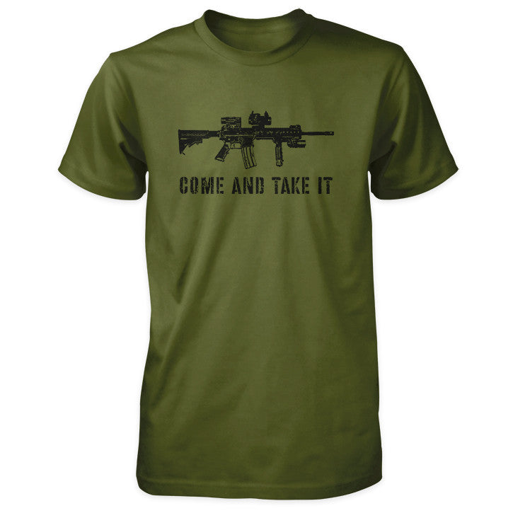 Come and Take It Shirt - Tactical AR-15 - Olive