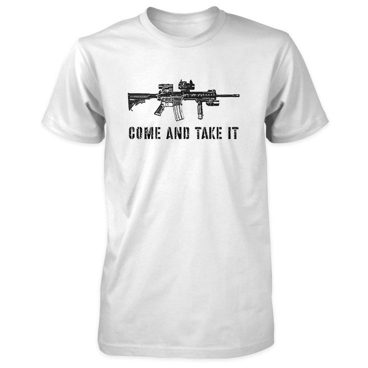 Come and Take It Tactical AR-15 Shirt - White