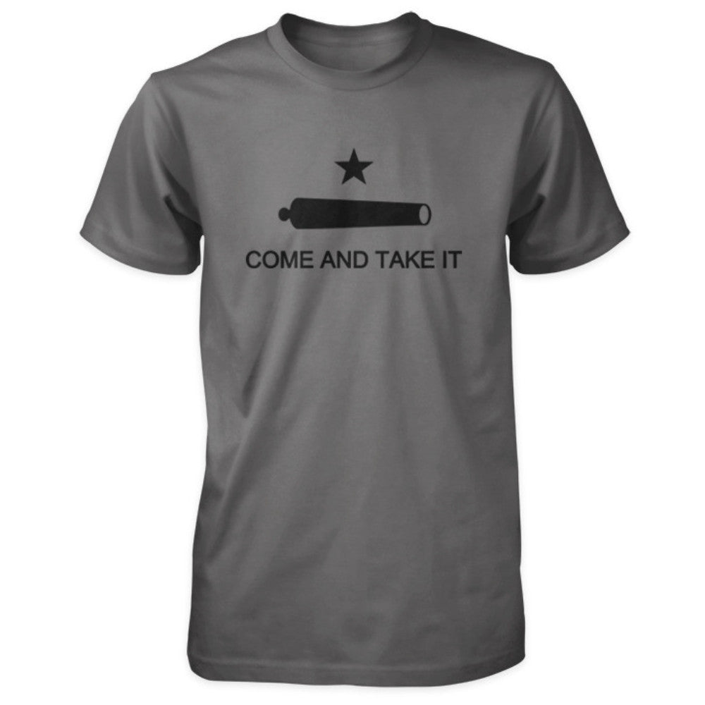 Texas Revolution Battle of Gonzales Come and Take It Flag Shirt - Asphalt/Charcoal