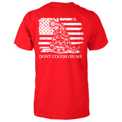 Dont Cough On Me Gadsden Rattlesnake Flag Shirt - Red