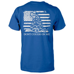 Dont Cough On Me Gadsden Rattlesnake Flag Shirt - Royal