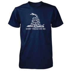 Dont Tread On Me Shirt - Gadsden Rattlesnake Flag Navy with White