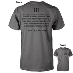 I am a Three Percenter Shirt - Asphalt/Charcoal