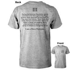 I am a Three Percenter Shirt - Sports Grey