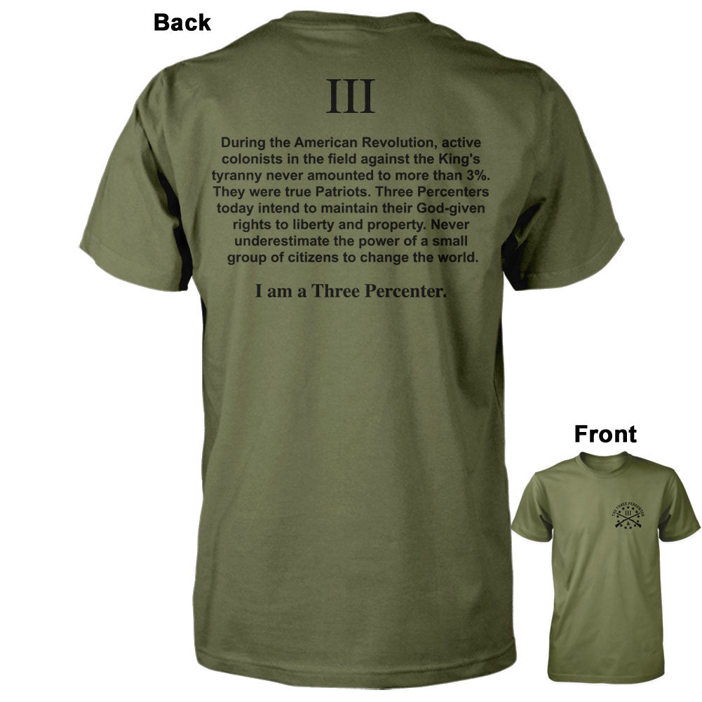 I am a Three Percenter Shirt - Military