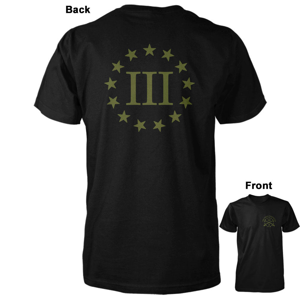 Three Percenter Shirt - III & 13 Stars | Back Print